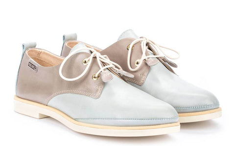 Pikolinos Santorini W3V-4771 (Sue) Womens Two-Tone Leather Lace Up Shoe
