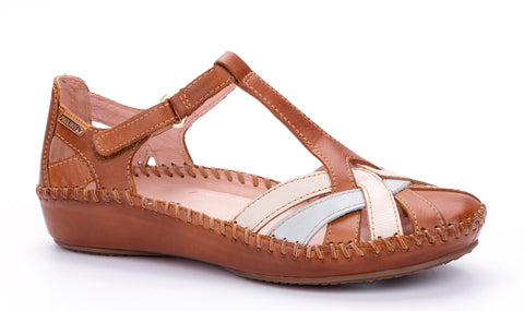Pikolinos 655-0732C5 (Valley) Womens Closed Toe Casual Sandal Brandy Multi