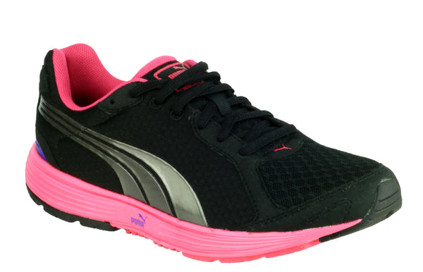 Puma Descendent Womens Lace Up Sports Trainer Black