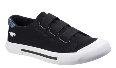 Rocket Dog Jamaica Canvas Slip On Trainer Black