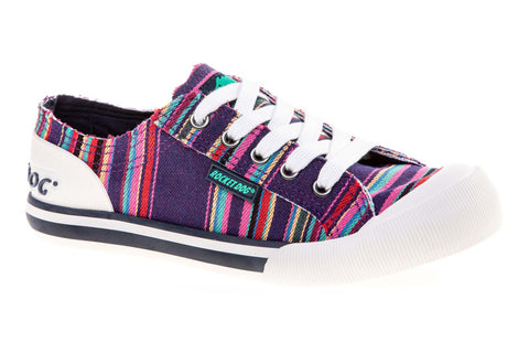 Rocket Dog Jazzin Canvas Womens Lace Up Casual Trainer