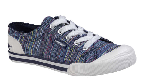 Rocket Dog Jazzin Canvas Lace Up Shoe Navy