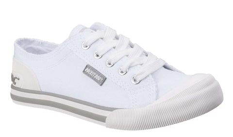 Rocket Dog Jazzin Canvas Lace Up Shoe White