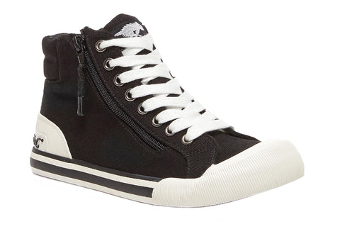 Rocket Dog Jazzin Hi Lace Up Hi Top Black