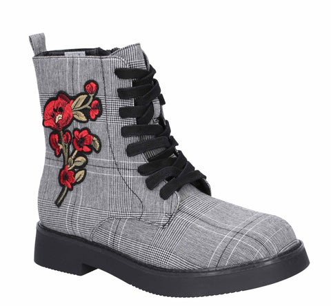 Rocket Dog Jelina Zip Boot Black/Red