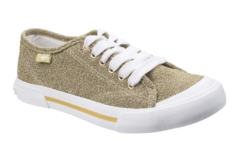 Rocket Dog Jumpin Disco Lace Up Trainer Gold