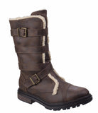 Rocket Dog Lance Womens Warm Lined Calf Length Winter Boot Brown