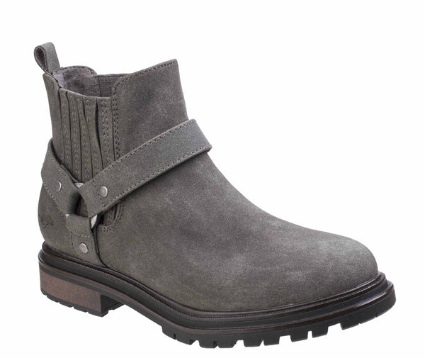 Rocket Dog Loki Womens Biker Style Pull On Ankle Boot Charcoal