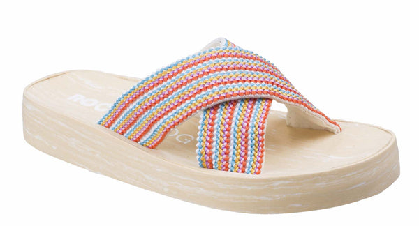Rocket Dog Moon Groovy Womens Slip On Slide Sandal Bubblegum