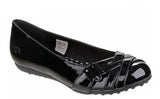 Rocket Dog Rebel Womens Patent Slip On Ballet Flat Black Patent