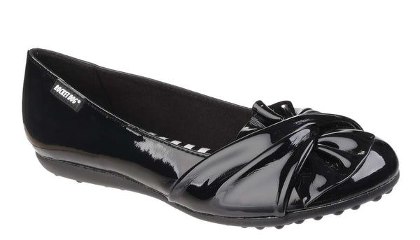 Rocket Dog Risky Slip On Ballerina Pump Shoe Black