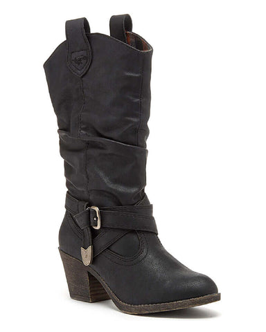 Rocket Dog Sidestep Mid-Calf Western Boot Black