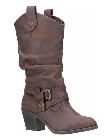 Rocket Dog Sidestep Mid-Calf Western Boot Brown