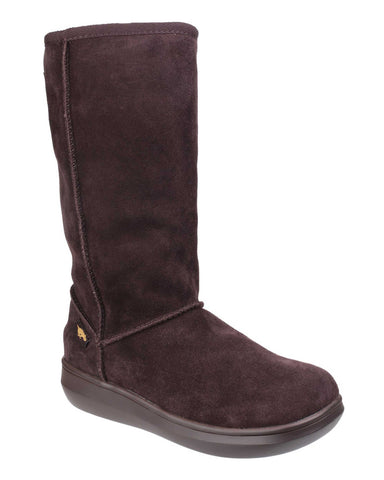 Rocket Dog Sugardaddy Womens Warm Lined Mid Calf Boot Choc