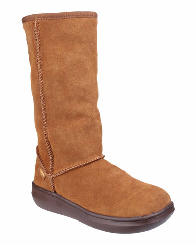 Rocket Dog Sugardaddy Womens Warm Lined Mid Calf Boot Chestnut