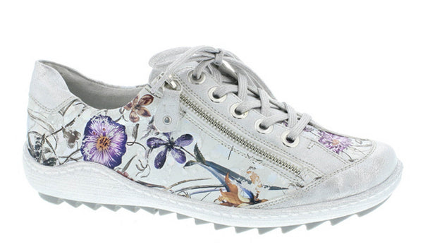 Remonte R1402 Womens Floral Print Lace Up Casual Shoe
