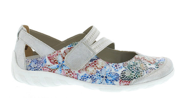 Remonte R3427 Womens Touch Fastening Mary Jane Casual Shoe 92 Iced Multi