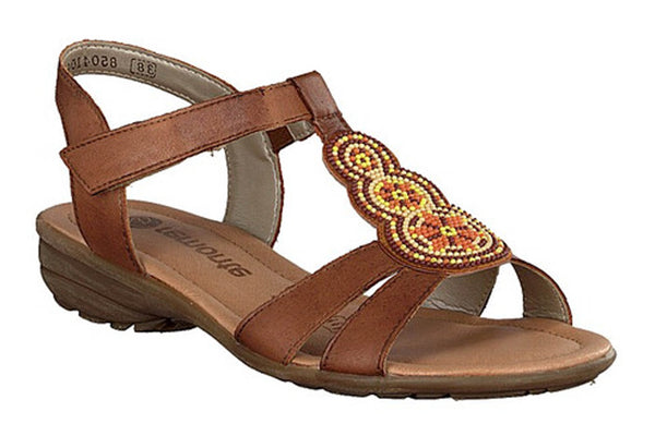 Remonte R3641 Womens Bead Detail Touch Fastening Sandal