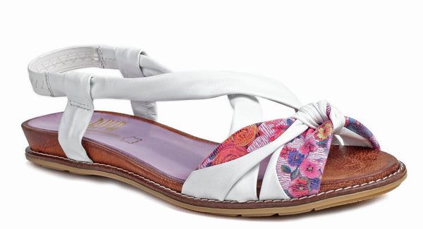 Riva Adore Womens Slip On Slingback Summer Sandal White Multi