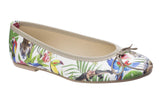 Riva Allessia Womens Jungle Print Slip On Ballerina Jungle