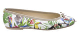 Riva Allessia Womens Jungle Print Slip On Ballerina