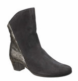 Riva Anita Womens Suede Leather And Metallic Detail Dress Ankle Boot Grey S/Met