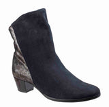 Riva Anita Womens Suede Leather And Metallic Detail Dress Ankle Boot Navy S/Met