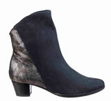 Riva Anita Womens Suede Leather And Metallic Detail Dress Ankle Boot