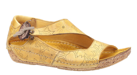 Riva Arlo Womens Patterned Leather Slip On Casual Sandal
