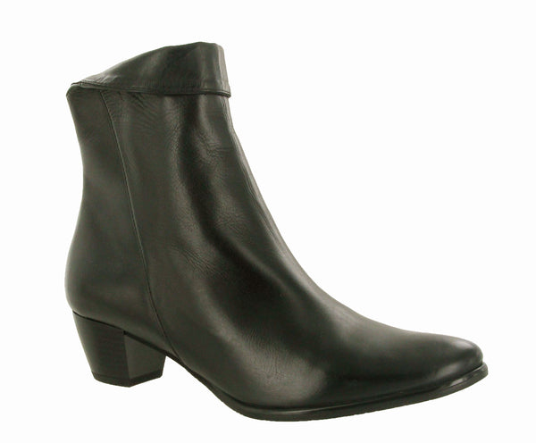 Riva Armadillo Womens Leather Dress Ankle Boot Black