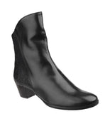 Riva Armadillo Pitone Womens Leather Dress Ankle Boot Black