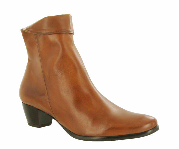 Riva Armadillo Womens Leather Dress Ankle Boot Tan L