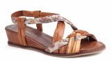 Riva Belmonte Womens Slip On Slingback Summer Sandal Brown Multi