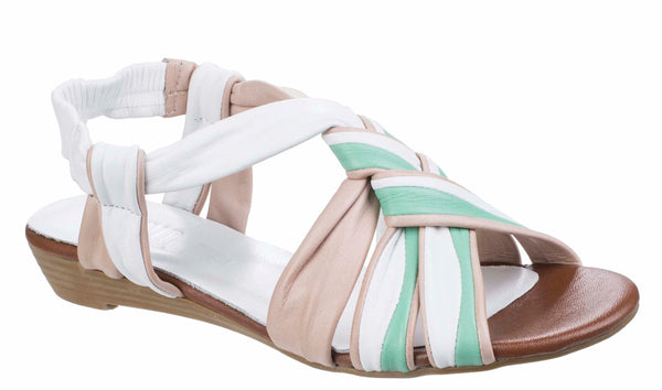 Riva Cala Womens Strappy Slip On Slingback Summer Sandal White
