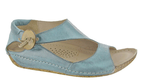 Riva Cartier Womens Button and Bow Detail Slip On Sandal
