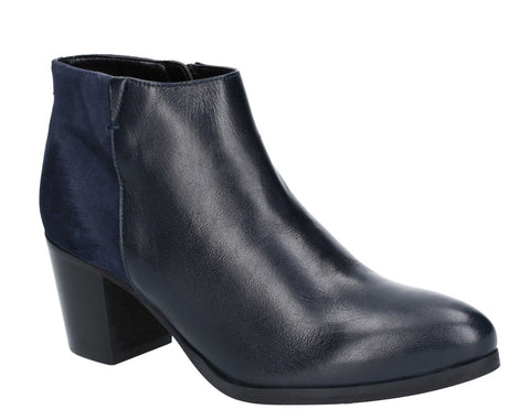 Riva Claudia Leather/Suede Ankle Boot Navy