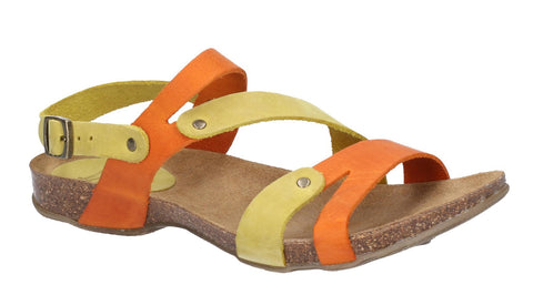 Riva Debs Womens Colourful Slingback Flat Summer Sandal