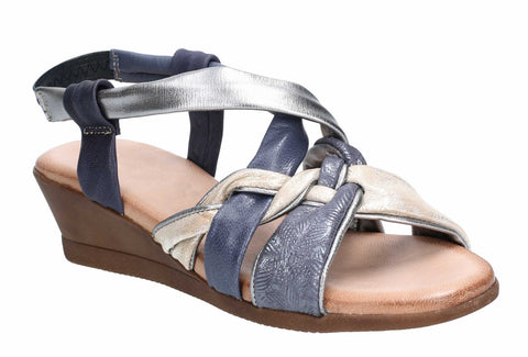 Riva Dolores Womens Wedge Heeled Slip On Slingback Sandal