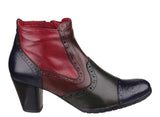 Riva Duet Womens Brogue And Patchwork Detail Dress Ankle Boot