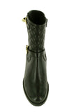 Riva Elegy Womens Quilted Leather Dress Mid Boot