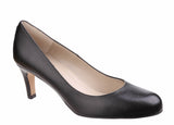 Riva Fermo Womens Plain Fronted Leather Dress Court Shoe Black L
