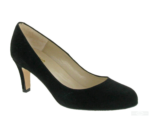 Riva Fermo Womens Plain Fronted Suede Leather Dress Court Shoe Black S