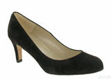 Riva Fermo Womens Plain Fronted Suede Leather Dress Court Shoe Brown S
