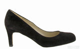 Riva Fermo Womens Plain Fronted Suede Leather Dress Court Shoe