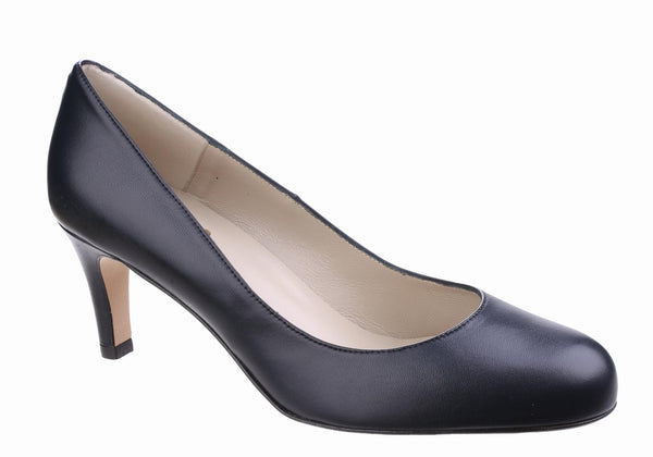 Riva Fermo Womens Plain Fronted Leather Dress Court Shoe Navy L