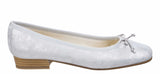 Riva Fiastra Womens Printed Suede Slip On Ballerina Pump With Bow Trim