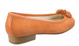 Riva Iseo Womens Suede Slip On Ballerina With Flower Trim