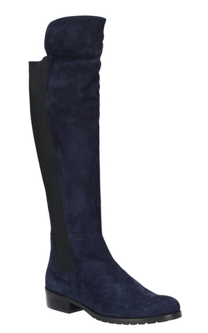 Riva Lanzo Womens Suede Leather Pull On Long Leg Dress Boot