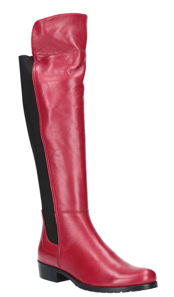 Riva Lanzo Womens Leather Pull On Long Leg Dress Boot