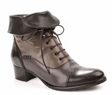 Riva Lilli Womens Multicoloured Panel Detail Laced Ankle Boot Black